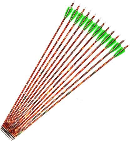 """M.A.K 6/12pcs 30"""" Carbon Arrow Shaft Plastics Fletching Changable Head Fit Compound Bow"""