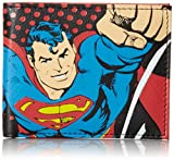 Superman Men's Bifold Wallet, Black, One Size