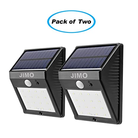 Solar Outdoor Lights With Motion Sensor 2 Pack Super Bright 16 Led By Jimo