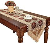 Simhomsen Vintage Beige Lace Table Runner And Scarves 16 By 84 Inch