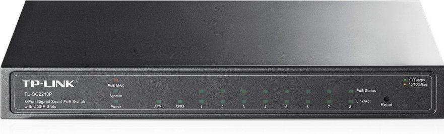 Amazon.com: TP-Link 8-Port Gigabit Ethernet Smart PoE Switch with 2-SFP Slots 53W (TL-SG2210P): Computers & Accessories
