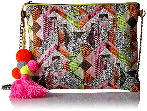 Fun print Pom pom Inside zipper compartment