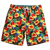 MaaMgic Mens Quick Dry Floral Swim Trunks with Mesh Lining Swimwear Bathing Suits 181118583