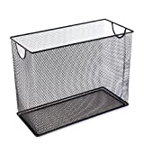 U Brands Mesh Steel Desktop Hanging File Holder, Letter Size, 12.4' x 9.53' x 5.5', Black
