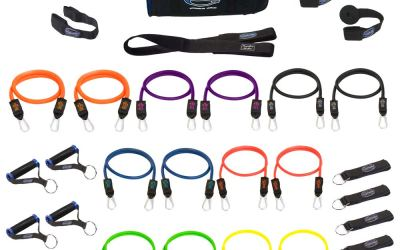 Bodylastics Patented Anti-SNAP 12pcs, 14pcs, 19pcs and 31pcs MAX Tension Resistance Bands