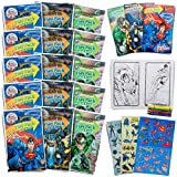 Set of 15 Super Hero Play Packs Fun Party Favors Coloring Book Crayons Stickers