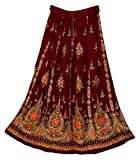 Product review of 1X Size Rayon Skirt Indian Hippie Rock Gypsy Kjol Jupe Retro Falda Women