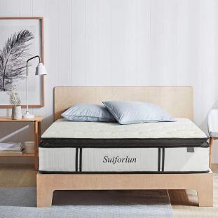 Suiforlun 12 Inch Pillow Top King Hybrid Mattress