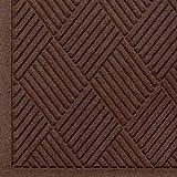 WaterHog Fashion Diamond-Pattern Commercial Grade Entrance Mat, Indoor/Outdoor Medium Brown Floor Mat 6' Length x 4' Width, Dark Brown by M+A Matting