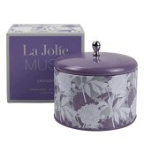 LA JOLIE MUSE Lavender Scented Candle - 13Oz Large Tin Soy Candles, 2 Wicks Aromatherapy Candles, Stress Relief Candle