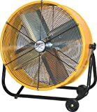 MaxxAir BF24TFYELUPS 24-Inch High Velocity Drum Fan, Two-Speed Yellow Shop