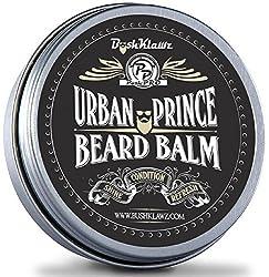 Urban Prince Beard Balm Leave in Conditioner Beard Butter Moisturizer Premium Refreshing Scent 2 oz - Best Leave in Conditioner Scented Beard Balm Gift Bearded Men  Image