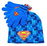 Superman - 8-Bit Kids Knit Beanie & Glove Set