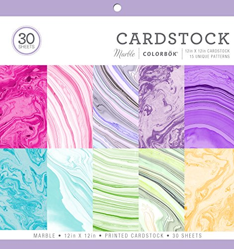 ColorBok 71876A Cardstock Paper Pad Marble, 12