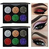 Amiley hot sale Shimmer Glitter Bling Bling Eye Shadow Powder Palette Matte Eyeshadow Cosmetic Makeup (B)