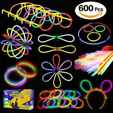 Glowstick, (600 Pcs Total) 250 Glow Sticks Bulk 7 Colour and