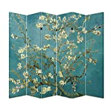 Product review for 6 Panel (Original Teal Color) Office Wood Folding Screen Decorative Canvas Privacy Partition Room Divider - Vincent van Gogh's Almond Blossoms