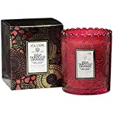 Voluspa Goji and Tarocco Orange Scalloped Edge Glass Candle, 6.2 Ounces