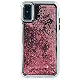 Case-Mate iPhone X Case - WATERFALL - Cascading Liquid Glitter - Protective Design - Apple iPhone 10 - Rose Gold