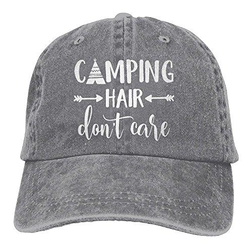 Unisex Camping Hair Don't Care-1 Vintage Jeans Baseball Cap Classic Cotton Dad Hat Adjustable Plain Cap