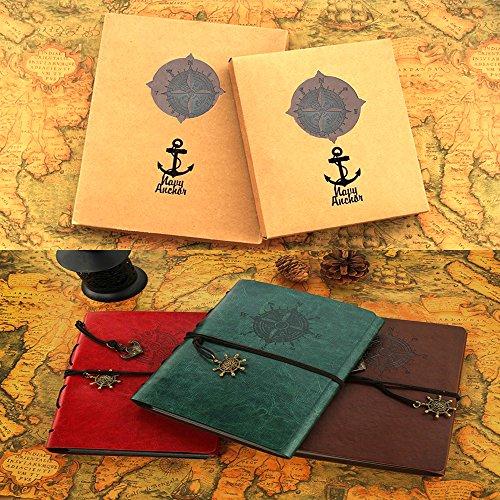 Scrapbook Album Navy Vintage Leather Photo Album Black Pages
