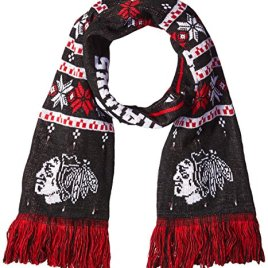 NHL Chicago Blackhawks Light Up Scarf, One Size, Black