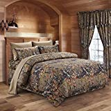 Regal Comfort The Woods Natural Green Camouflage Queen 8pc Premium Luxury Comforter, Sheet, Pillowcases, and Bed Skirt Set Camo Bedding Set for Hunters Cabin or Rustic Lodge Teens Boys and Girls
