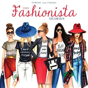 Graphique The Fashionista Diaries Wall Calendar – 16-Month 2019 Calendar, 12″x12″ w/ 3 Languages, 4-Month Preview, Marked Holidays