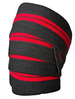 Harbinger 46300 Red Line 78-Inch Knee Wraps for Weightlifting (Pair)