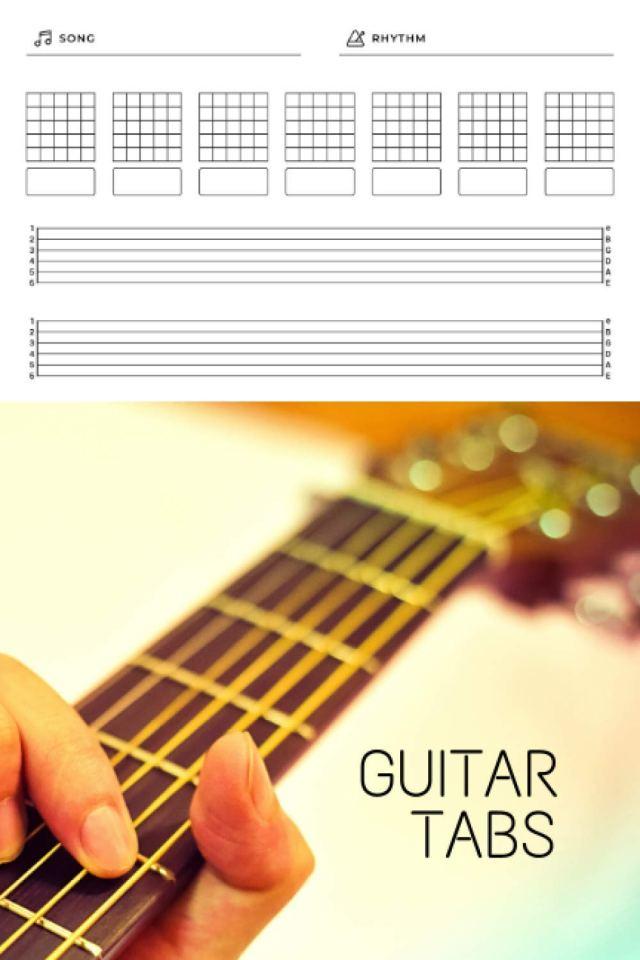Amazon.com: Guitar Tabs: Guitar Music Tabs Journal, Blank Guitar