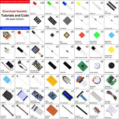 Freenove-Ultimate-Starter-Kit-for-Raspberry-Pi-4-B-3-B-400-434-Page-Detailed-Tutorials-Python-C-Java-Code-223-Items-57-Projects-Solderless-Breadboard