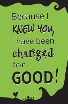 Image result for wicked changed for good broadway
