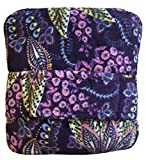 Vera Bradley Womens Fleece Travel Blanket, Batik Leaves