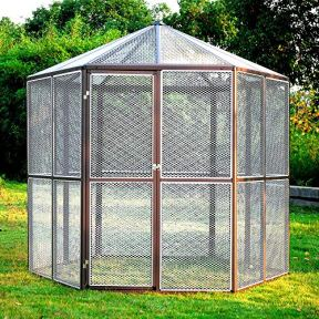 Hexagon-Bird-Houses-93-Large-Walk-in-House-Hexagonal-Design-Aviary-Cage-Parrot-Macaw-Animal-Skroutz-Deals