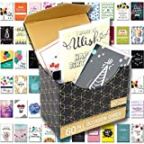 [UPGRADED] 60 Pack Birthday Cards Assortment with Assorted All Occasion Greeting Cards, 60 UNIQUE DESIGN BIG 5'x7', Happy Birthday, Thank You Cards, Magnetic Bulk Box Set Variety Pack w/Thick Envelope
