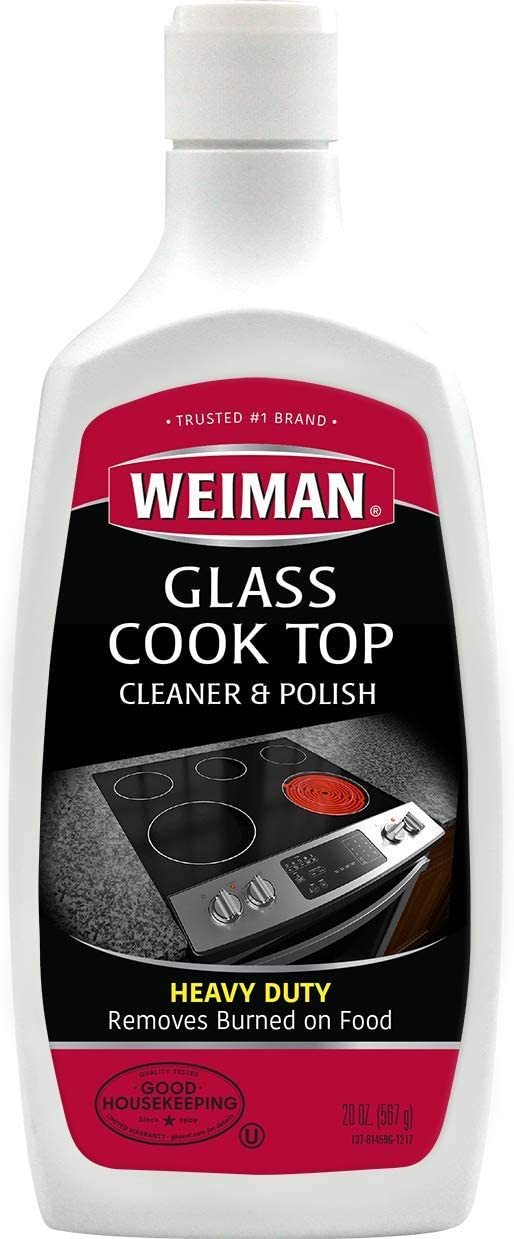 Weiman Glass Cooktop Heavy Duty Cleaner And Polish 20 Ounce Non Abrasive No Scratch Induction Glass Ceramic Stove Top Cleaner And Polish Amazon Com Grocery Gourmet Food