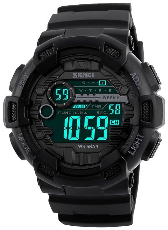 Reloj negro deportivo para hombrehttps://amzn.to/2QoiLjP
