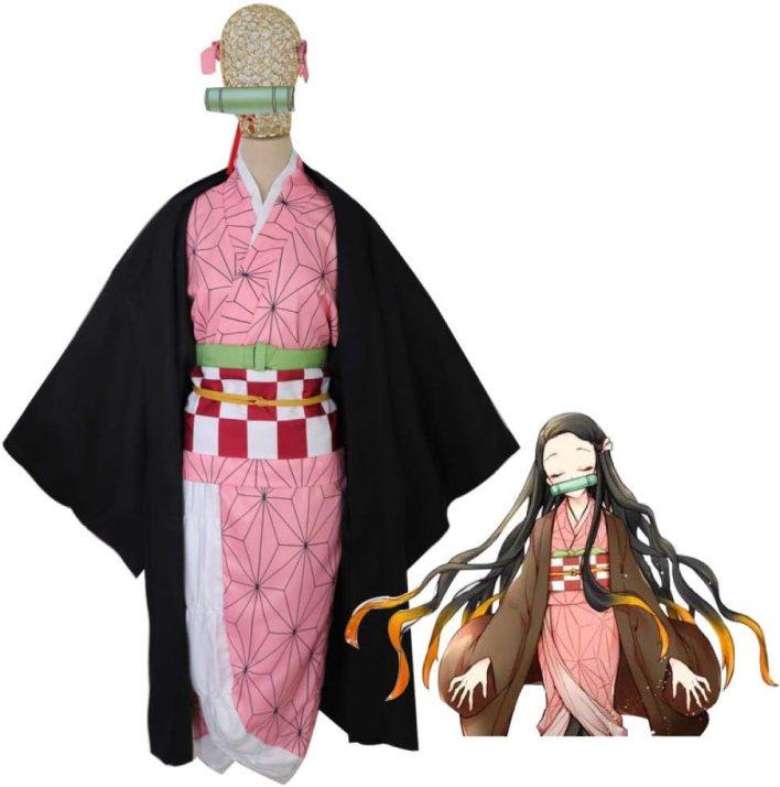 DONT SLEEP COSPLAY Demon Slayer: Kimetsu no YaibaKamado TanjirouKamado NezukoAgatsuma ZenitsuTomioka Giyuucosplay atuendo-Kamado Nezuko