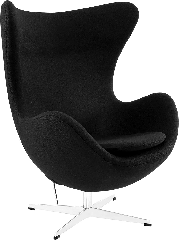Amazon Com Arne Jacobsen Egg Chair Black Home Kitchen