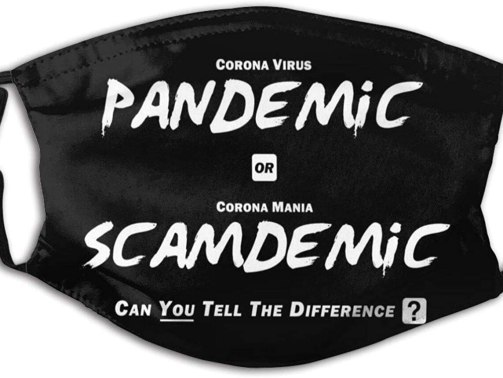 Mask- Pandemic or Scamdemic Cover Anti Dust Reusable Black at Amazon Men's Clothing store