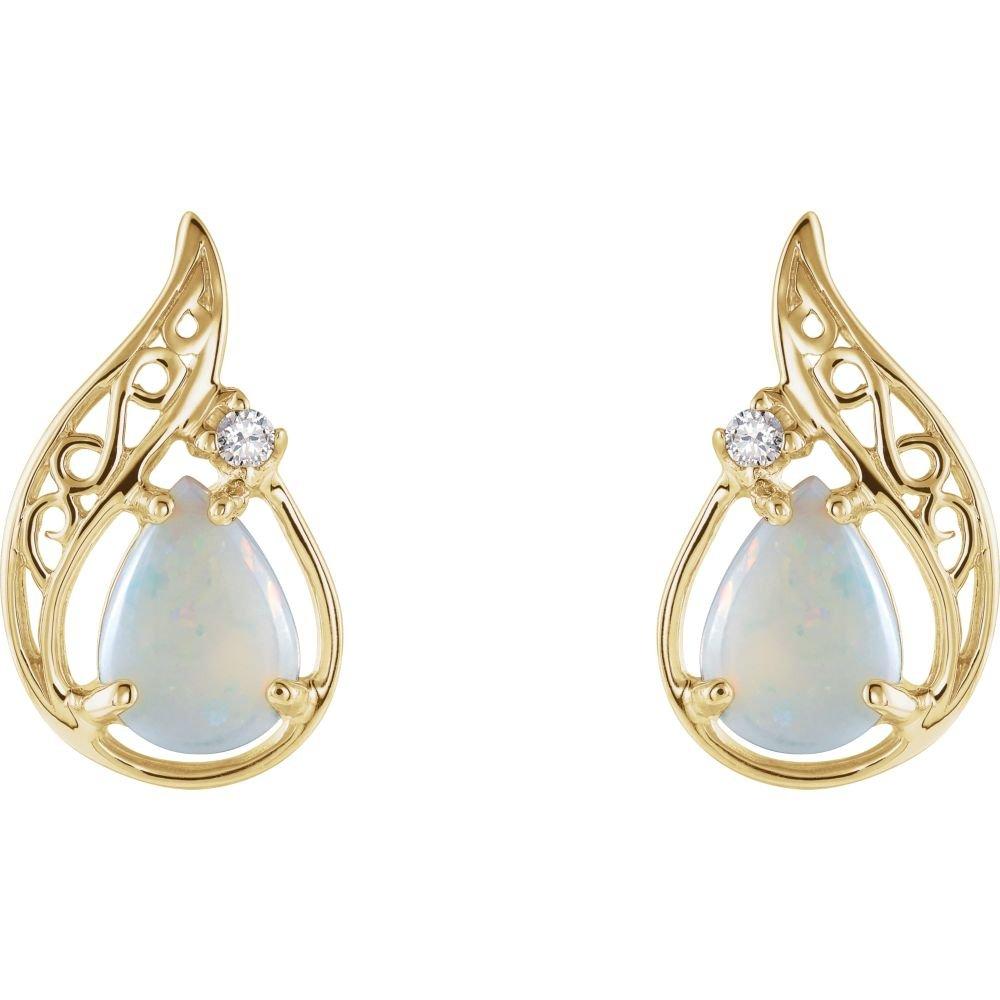 Pendientes de oro con opalos autenticos