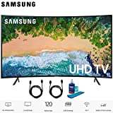 Samsung UN75NU7100 (UN75NU7100FXZA) 75' NU7100 Smart 4K UHD TV 2018 Model with 2X 6ft High Speed HDMI Cable + Universal Screen Cleaner for LED TVs