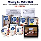 Morning Fat Melter Workout DVD for Women – Great Weight Loss Program for Women Who Want to Lose 30 Pounds - 18 Workout Videos + 60 Days Meal Plan on 2 Exercise DVDs
