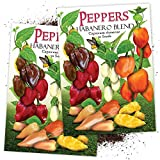 Seed Needs, Habanero Pepper Rainbow Blend (Capsicum chinense) Twin Pack of 50 Seeds Each Non-GMO