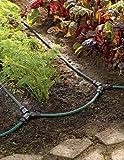 Garden Watering System, Row Drip Irrigation Snip-n-Drip Soaker System