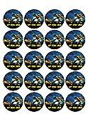 Transformers (Nr2) - Edible Cupcake Toppers - 1.8' cupcake (20 pieces/sheet)