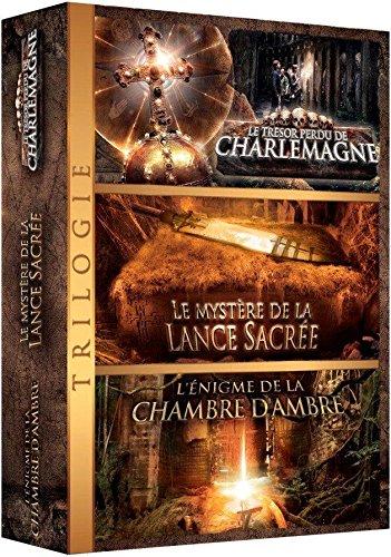 Coffret trilogie aventure : LE TRESOR PERDU DE CHARLEMAGNE + LE MYSTERE DE LA LANCE SACREE + LA CHAMBRE D'AMBRE