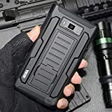 Cocomii Robot Armor LG Optimus L7/Optimus Select Case New [Heavy Duty] Premium Belt Clip Holster Kickstand Shockproof Bumper [Military Defender] Full Body Rugged Cover for LG Optimus L7 (R.Black)