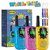 Kids Walkie Talkies 3 Pack, 2 Way Radio Long Range Walkie Talkies Toy for Girls / Boys - Outside Camping Toy for Kids 3 4 5 6 7 8 9 Year Old