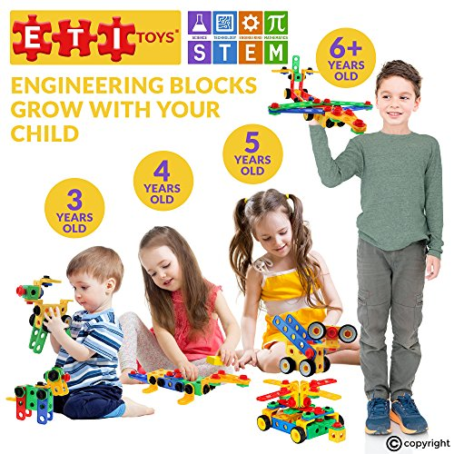 eti toys stem learning original 93 piece educational construction engineering building. Black Bedroom Furniture Sets. Home Design Ideas
